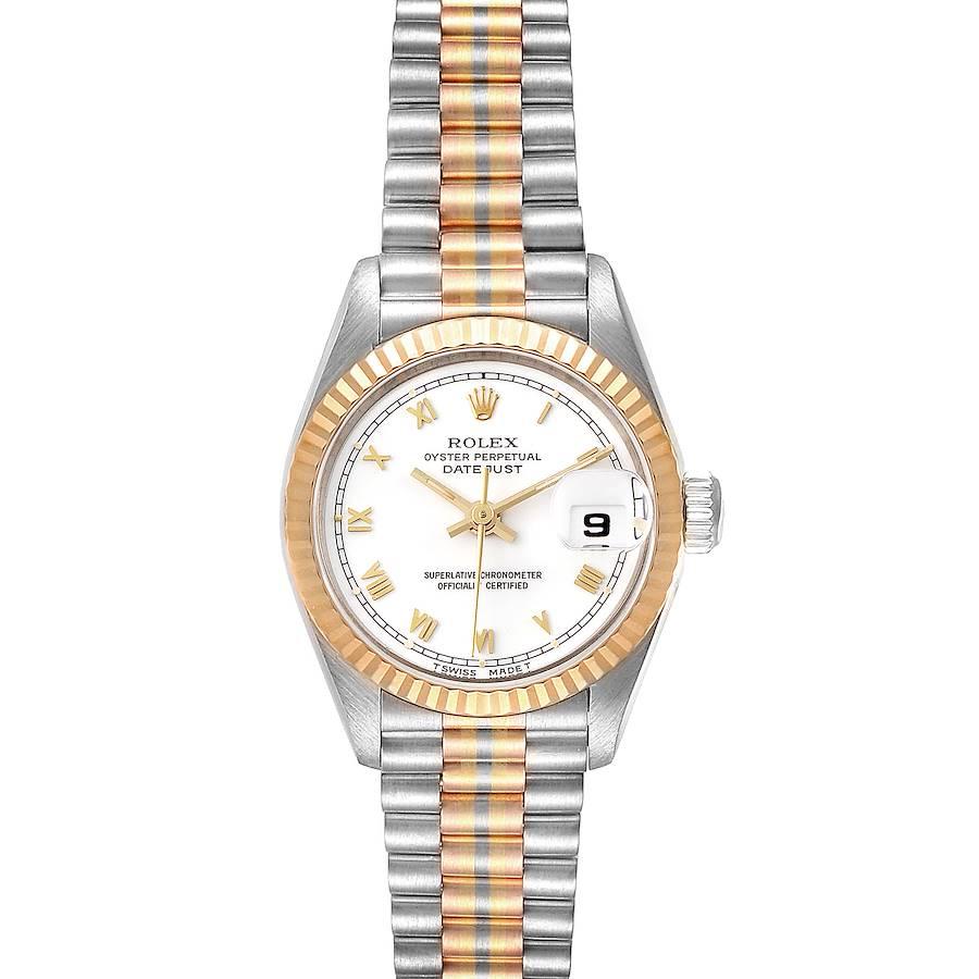 Rolex President Tridor White Yellow Rose Gold Ladies Watch 69179 SwissWatchExpo