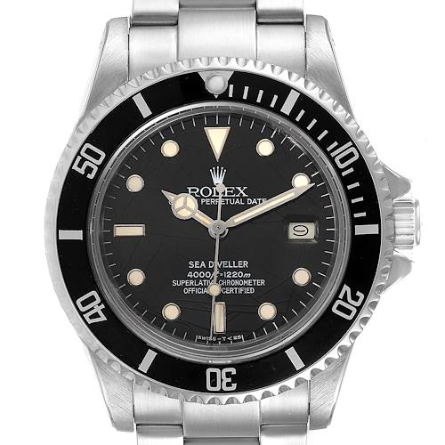 Photo of Rolex Seadweller Black Spider Dial Stainless Steel Vintage Mens Watch 16660