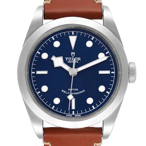 Photo of Tudor Heritage Black Bay 41 Blue Dial Stainless Steel Mens Watch 79540