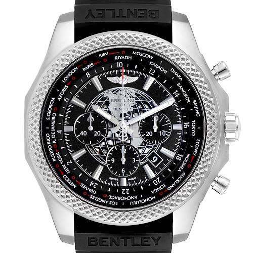 Photo of Breitling Bentley GMT B05 Unitime Black Dial Mens Watch AB0521 Box Card