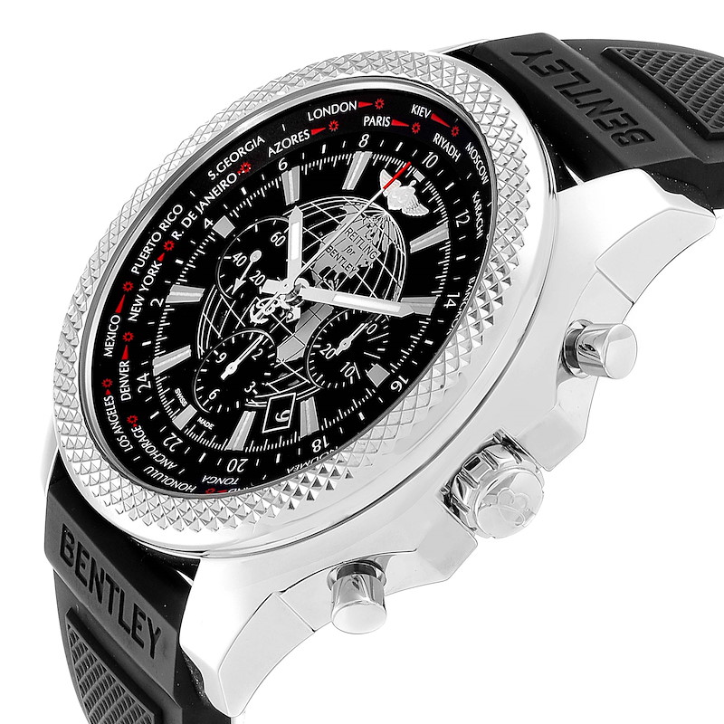 Breitling Bentley GMT B05 Unitime Black Dial Mens Watch AB0521 Box Card SwissWatchExpo