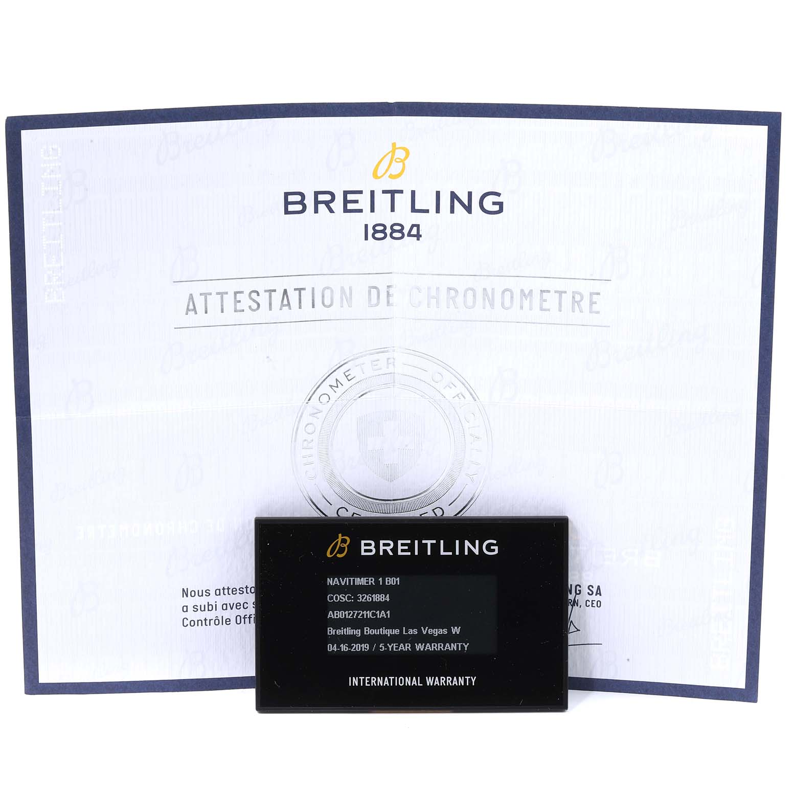 Breitling Navitimer 01 46mm Aurora Blue Dial Mens Watch AB0127 Box Card SwissWatchExpo