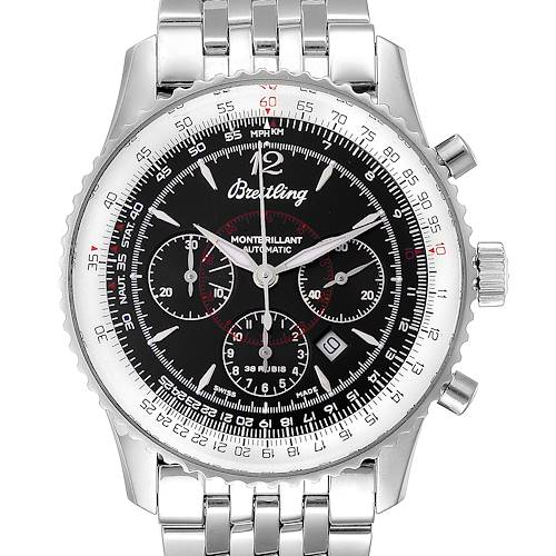 Photo of Breitling Navitimer Montbrilliant Black Dial Steel Mens Watch A41330