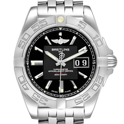 Photo of Breitling Windrider Cockpit Black Dial Steel Mens Watch A49350