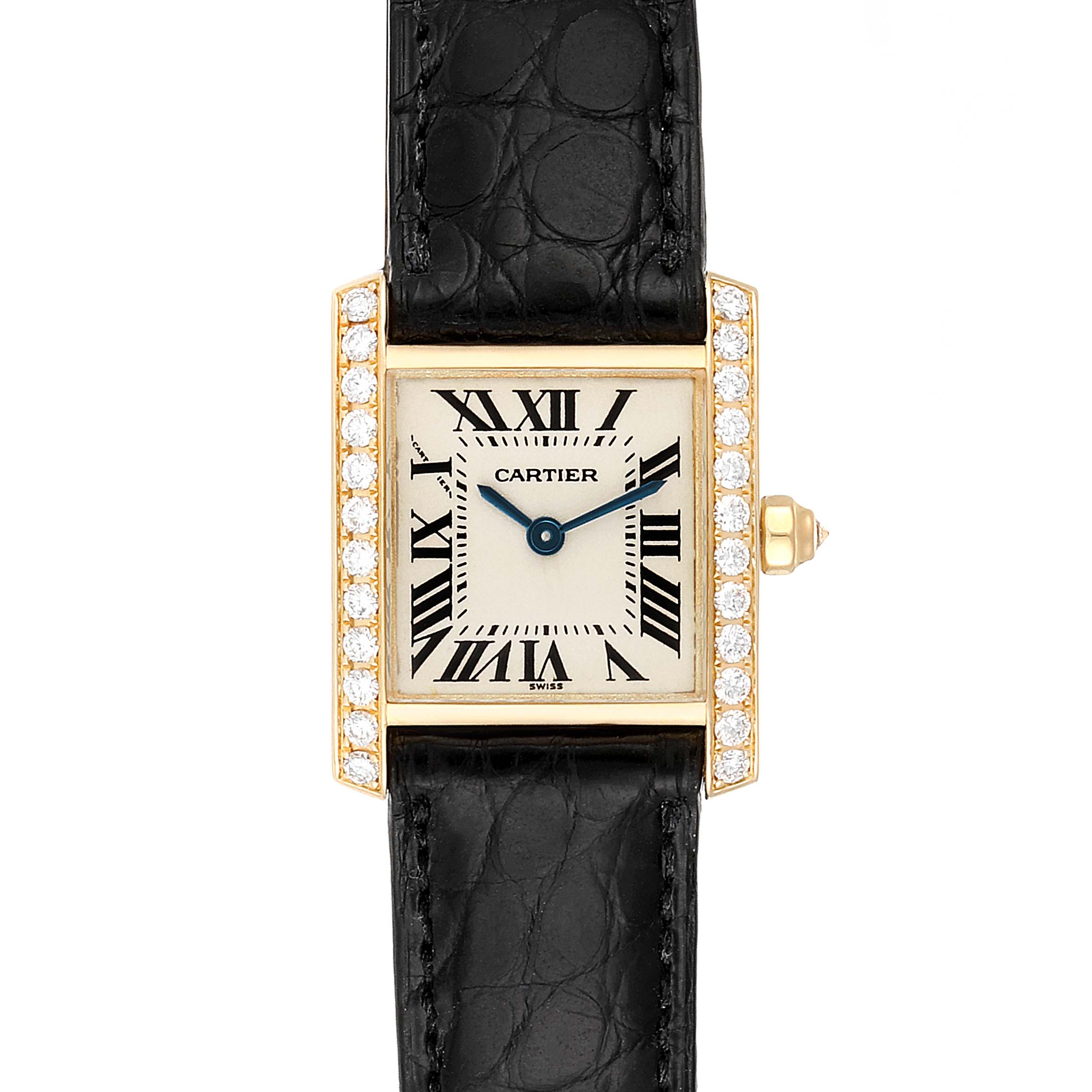 Cartier Tank Francaise 18K Yellow Gold Diamond Ladies Watch WE100131