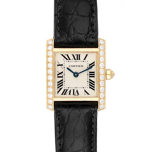 Photo of Cartier Tank Francaise 18K Yellow Gold Diamond Ladies Watch WE100131