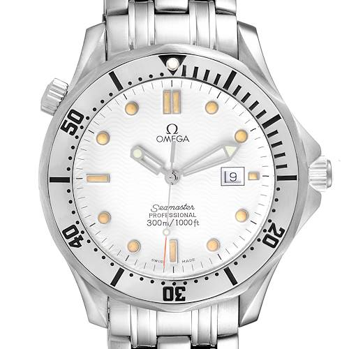 Photo of Omega Seamaster 300m White Wave Dial 41mm Mens Watch 2542.20.00