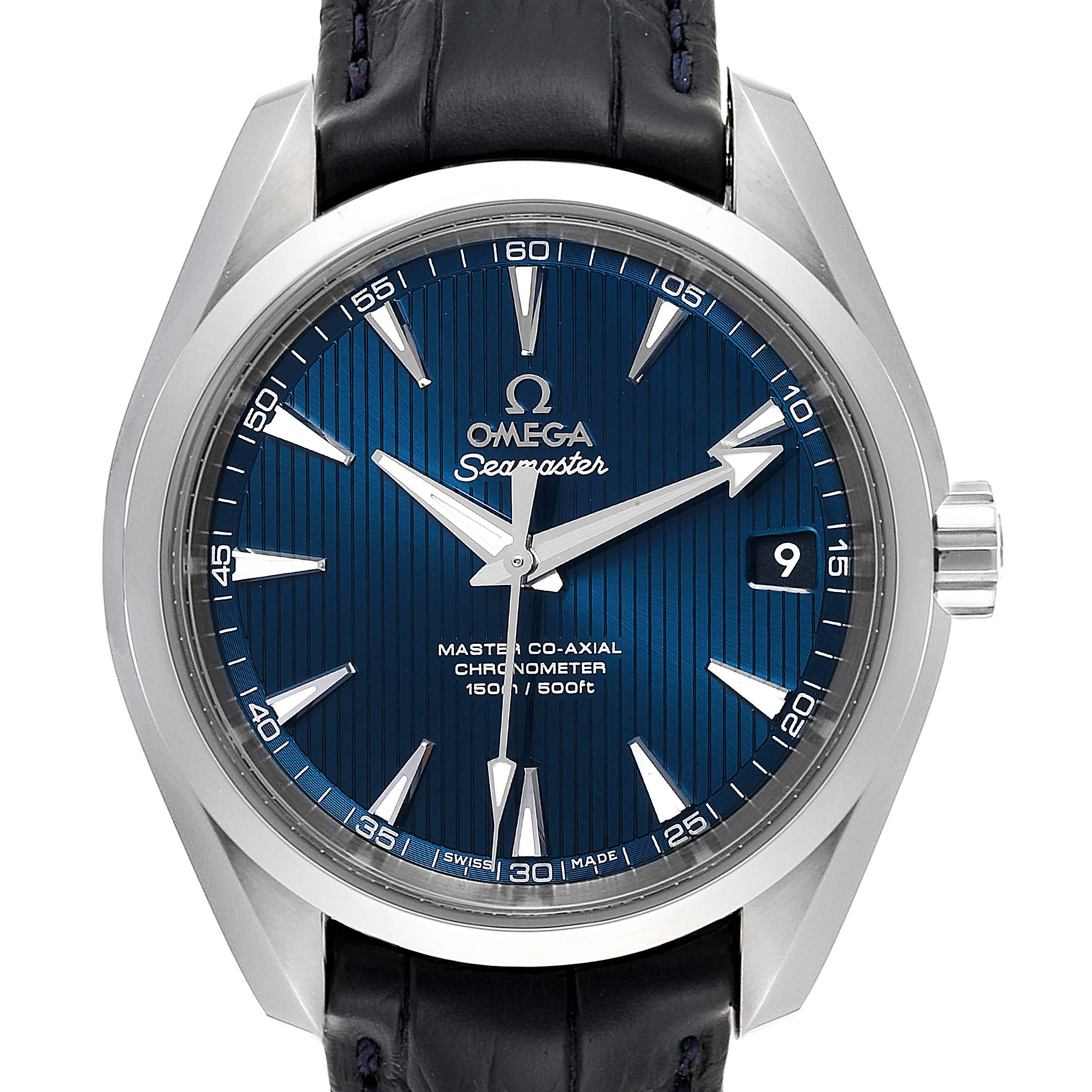 Omega Seamaster Aqua Terra Blue Dial Watch 231.13.39.21.03.001 Box Card SwissWatchExpo