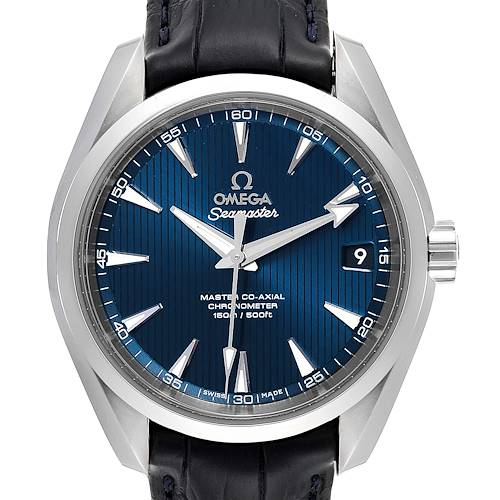 Photo of Omega Seamaster Aqua Terra Blue Dial Watch 231.13.39.21.03.001 Box Card