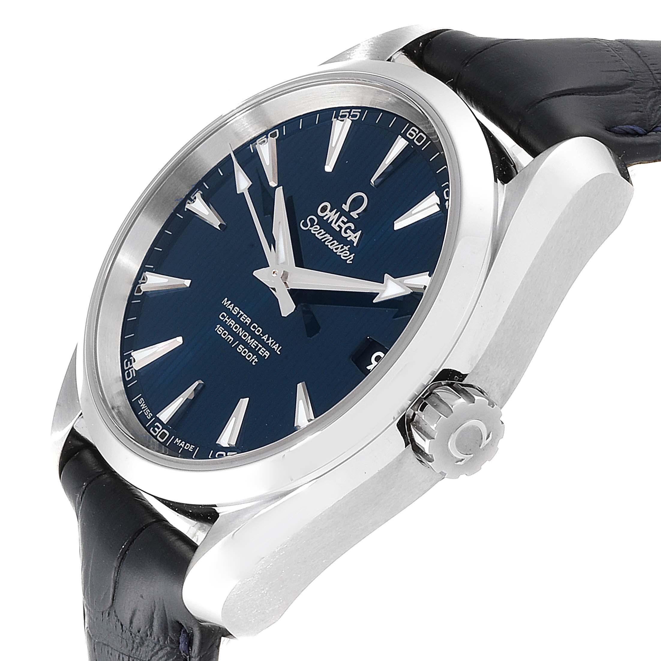 Omega Seamaster Aqua Terra Blue Dial Watch 231.13.39.21.03.001 Box Card SwissWatchExpo