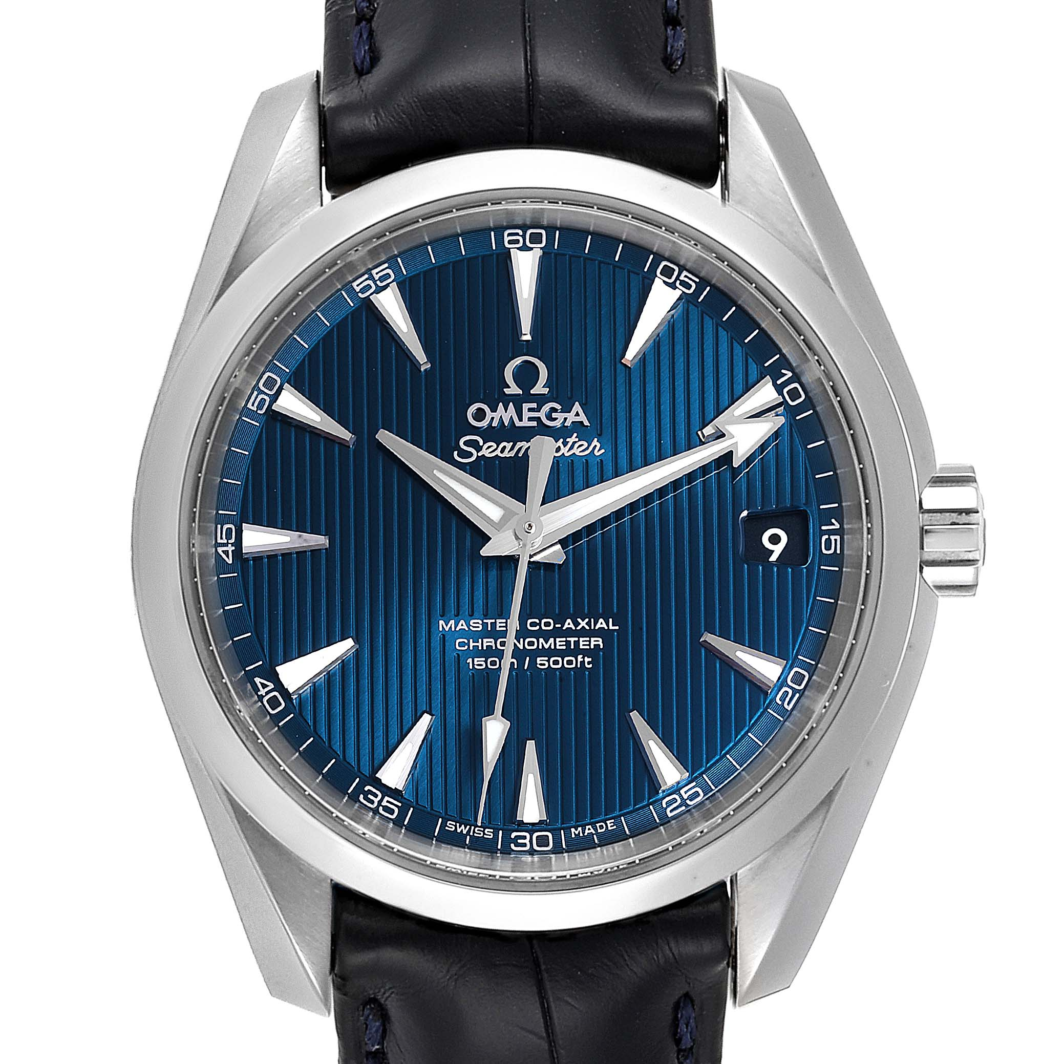 Omega Seamaster Aqua Terra Blue Dial Watch 231.13.39.21.03.001 Box Card