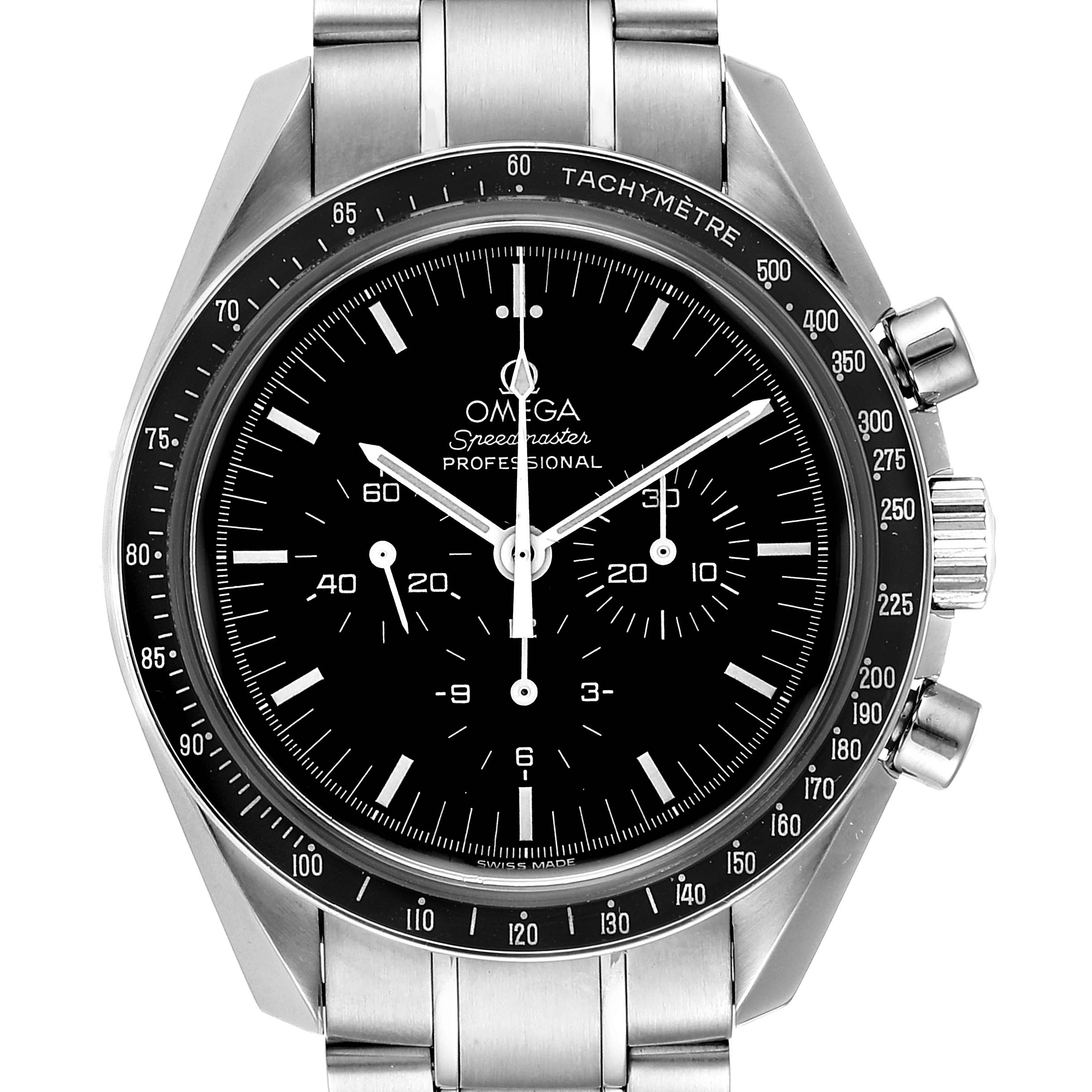 Omega Speedmaster Chronograph Steel Mens Moon Watch 3570.50.00 Card