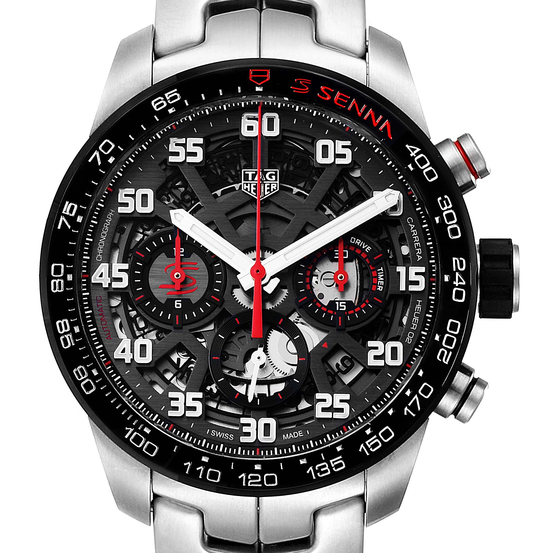 Photo of Tag Heuer Carrera Senna Special Edition Chronograph Watch CBG2013 Unworn