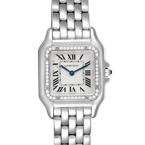 Photo of Cartier Panthere Medium Steel Diamond Ladies Watch W4PN0008 Unworn