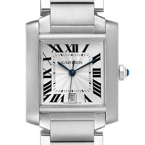 Photo of Cartier Tank Francaise Large Steel Automatic Mens Watch W51002Q3 Box Papers