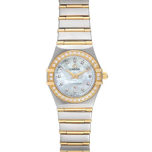 Photo of Omega Constellation 95 Mother of Pearl Diamond Watch 1267.75.00 Box Card