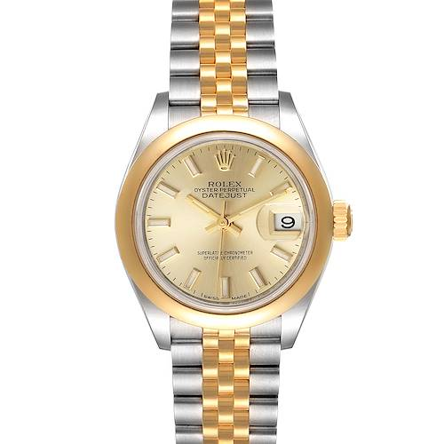 Photo of Rolex Datejust Steel Yellow Gold Champagne Dial Ladies Watch 279163 Box Card