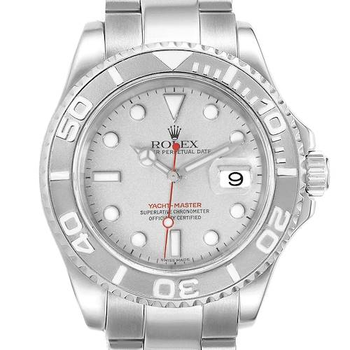 Photo of NOT FOR SALE--Rolex Yachtmaster 40 Steel Platinum Dial Bezel Mens Watch 16622 Box Papers--PARTIAL PAYMENT