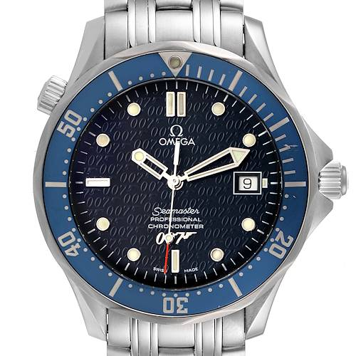 Photo of Omega Seamaster 40 Years James Bond Blue Dial Watch 2537.80.00 Box Card