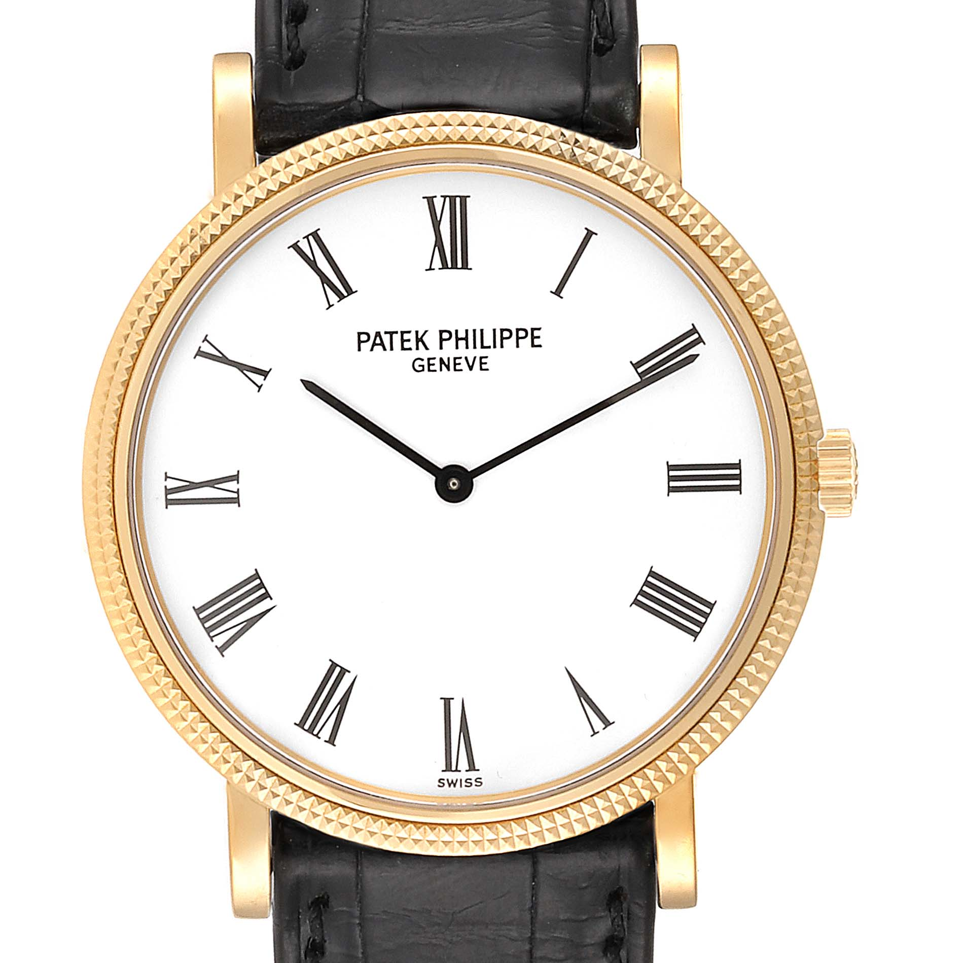 Patek Philippe Calatrava Yellow Gold Automatic Mens Watch 5120 SwissWatchExpo