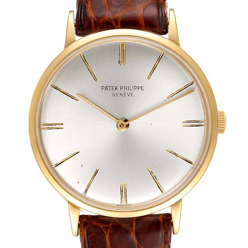Photo of Patek Philippe Calatrava Yellow Gold Vintage Mens Watch 3468