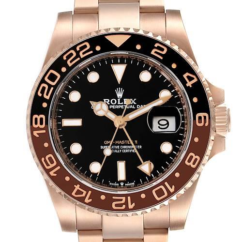 Photo of Rolex GMT Master II Everose Gold Black Dial Mens Watch 126715 Unworn