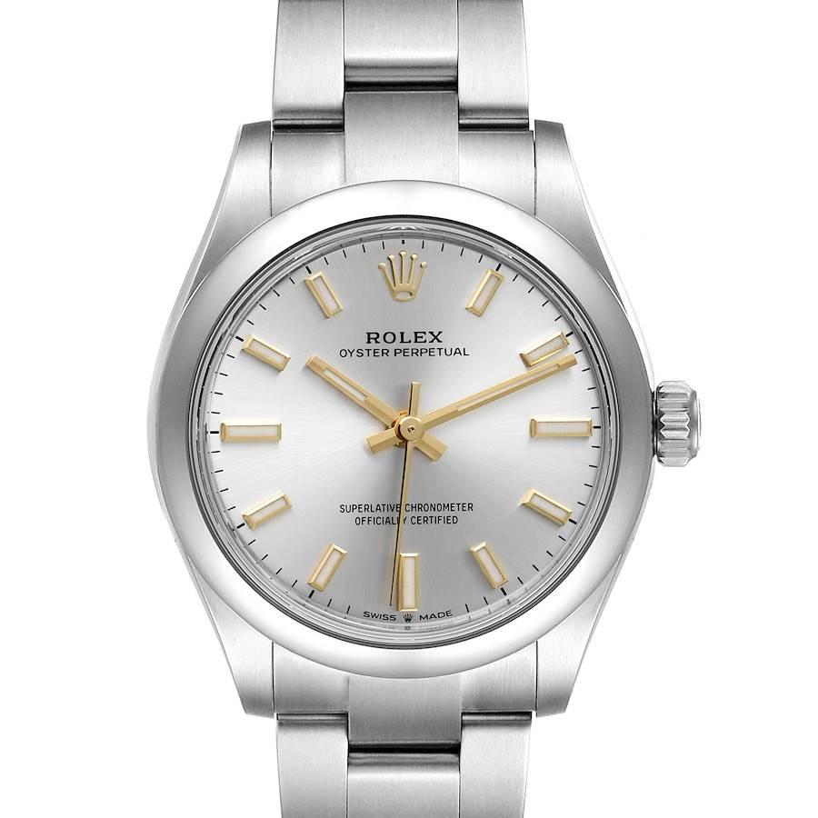 Rolex Midsize 31mm Silver Dial Automatic Steel Ladies Watch 277200 Unworn SwissWatchExpo