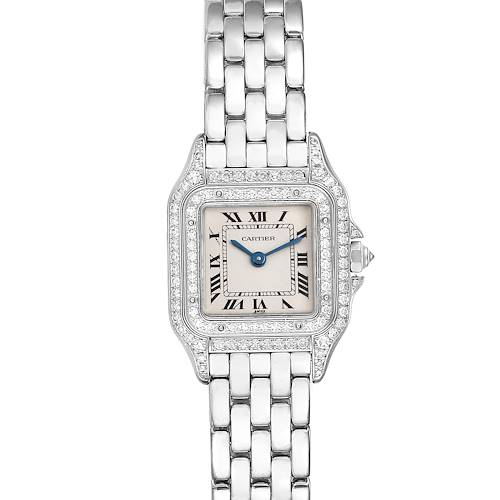Photo of Cartier Panthere 18k White Gold Diamonds Ladies Watch 1660