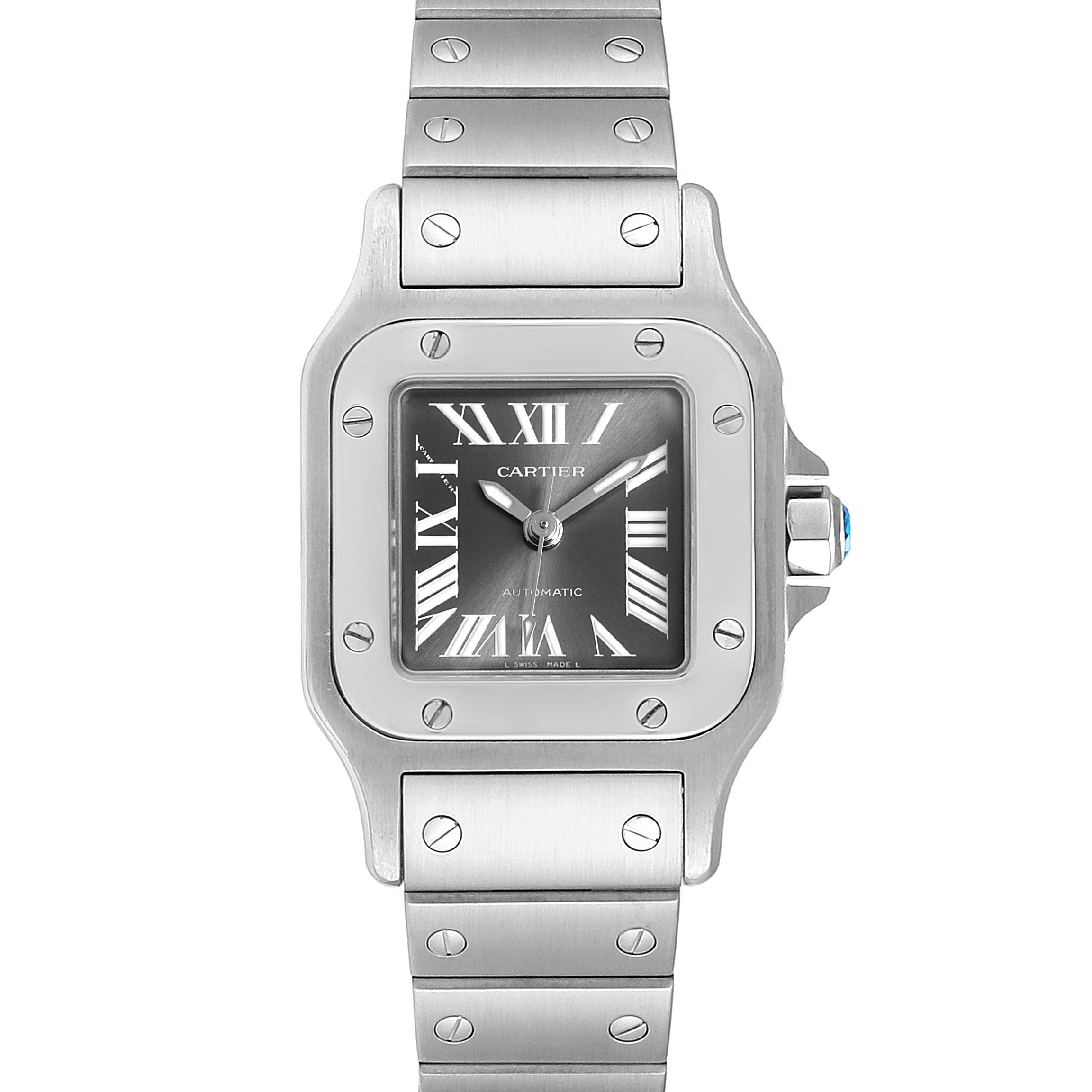 Cartier Santos Galbee Grey Dial Automatic Steel Ladies Watch W20066D6 SwissWatchExpo