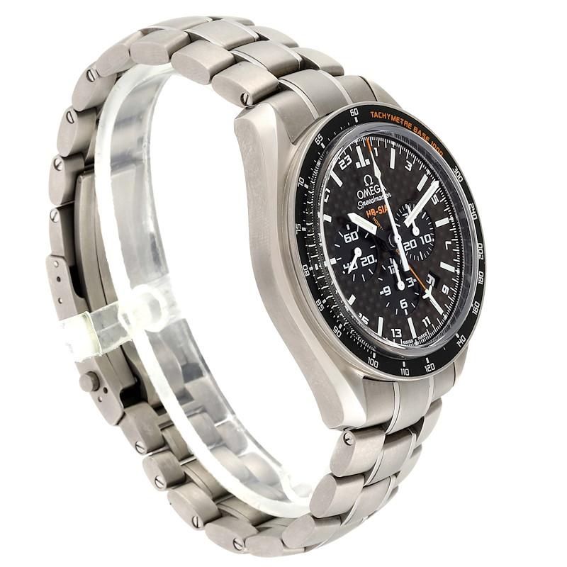 Omega Speedmaster HB-SIA GMT Titanium Watch 321.90.44.52.01.001 Box Card SwissWatchExpo
