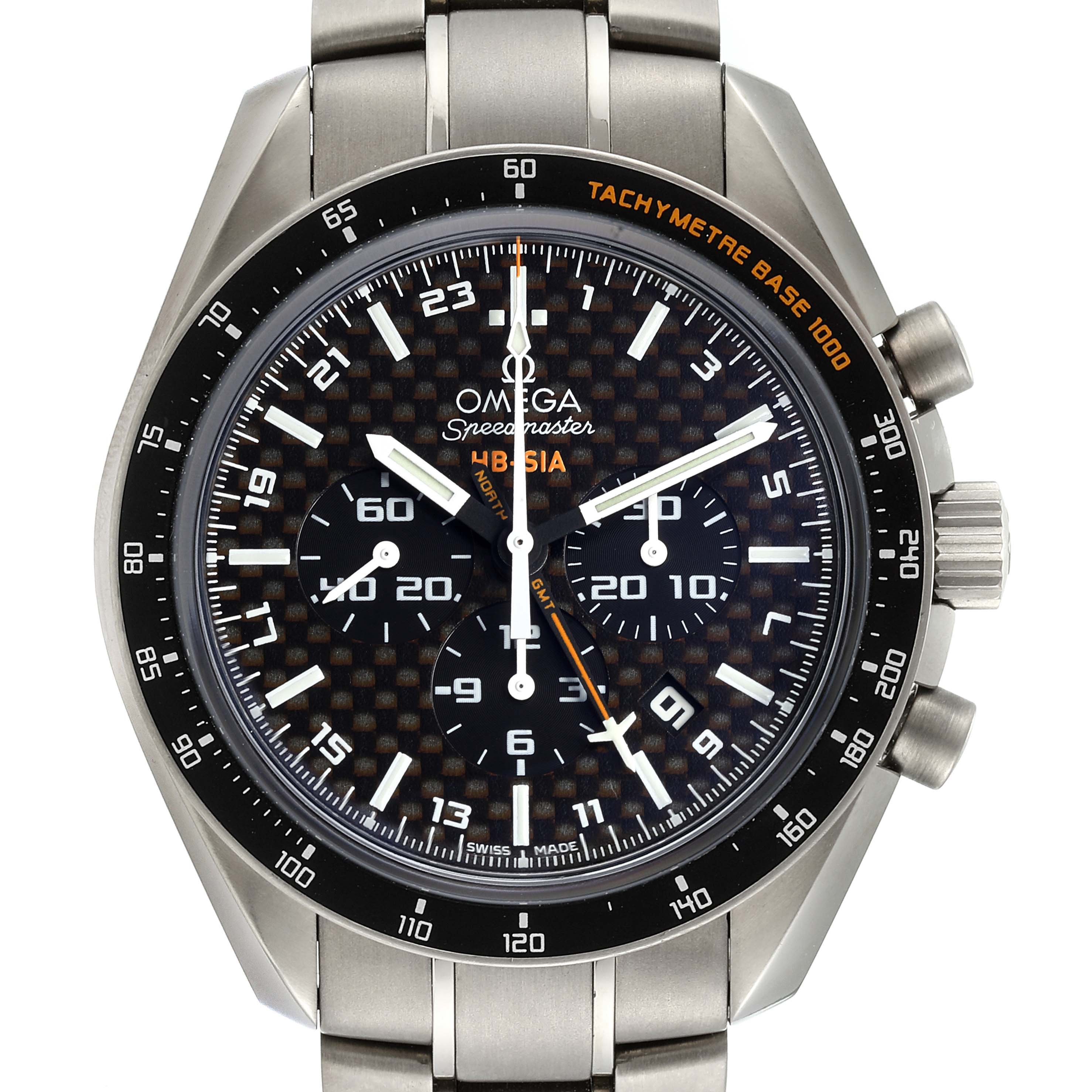 Omega Speedmaster HB-SIA GMT Titanium Watch 321.90.44.52.01.001 Box Card