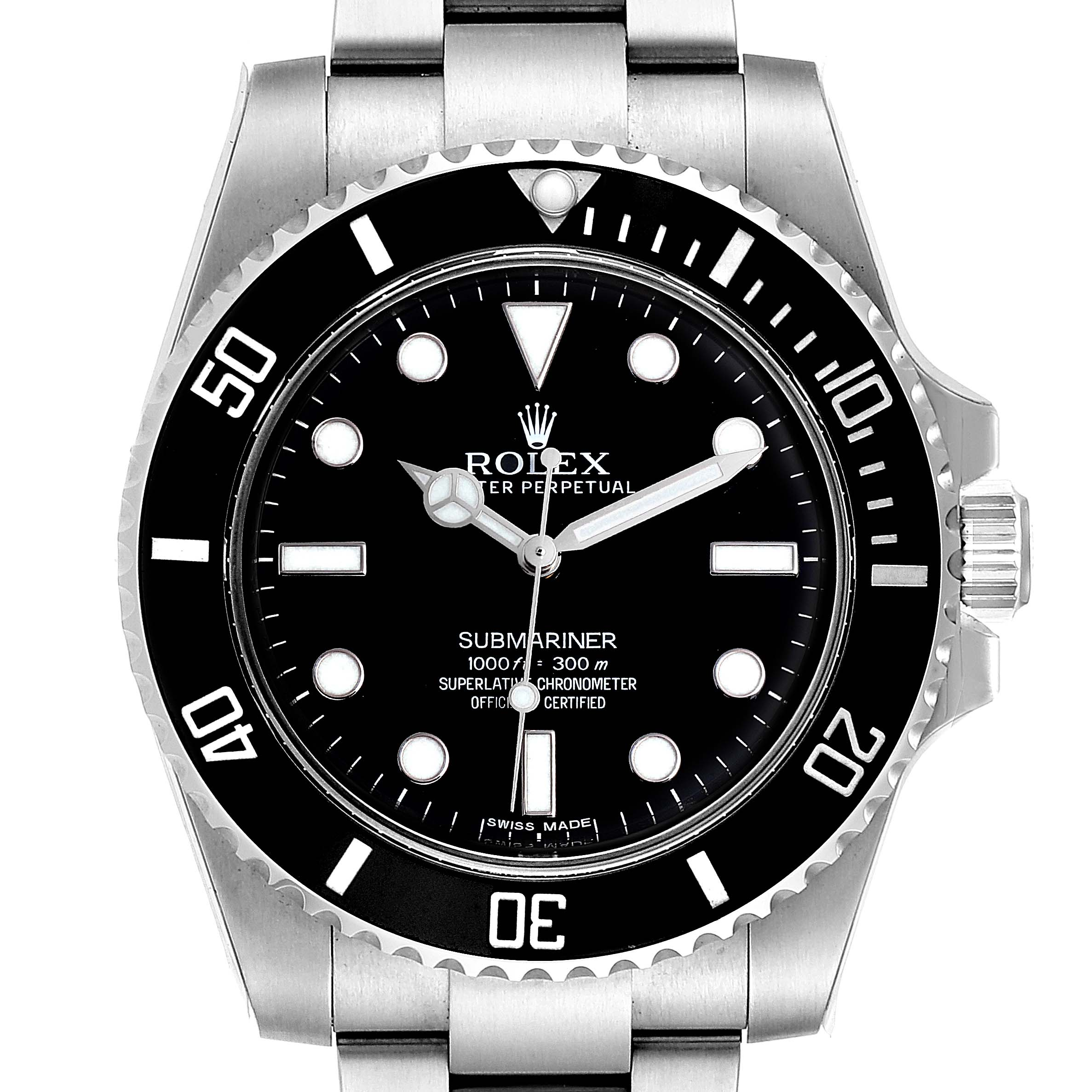 Rolex Submariner 40mm Ceramic Bezel Steel Watch 114060 Unworn SwissWatchExpo