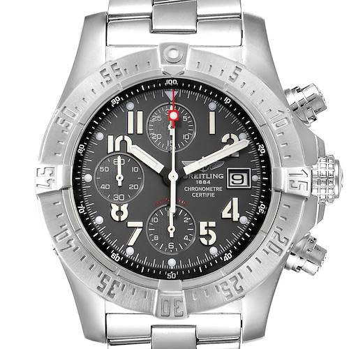 Photo of Breitling Aeromarine Avenger Skyland Grey Dial Mens Watch A13380 Box Papers