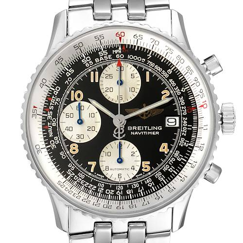 Photo of Breitling Navitimer II Black Dial Arabic Numeral Steel Mens Watch A13022