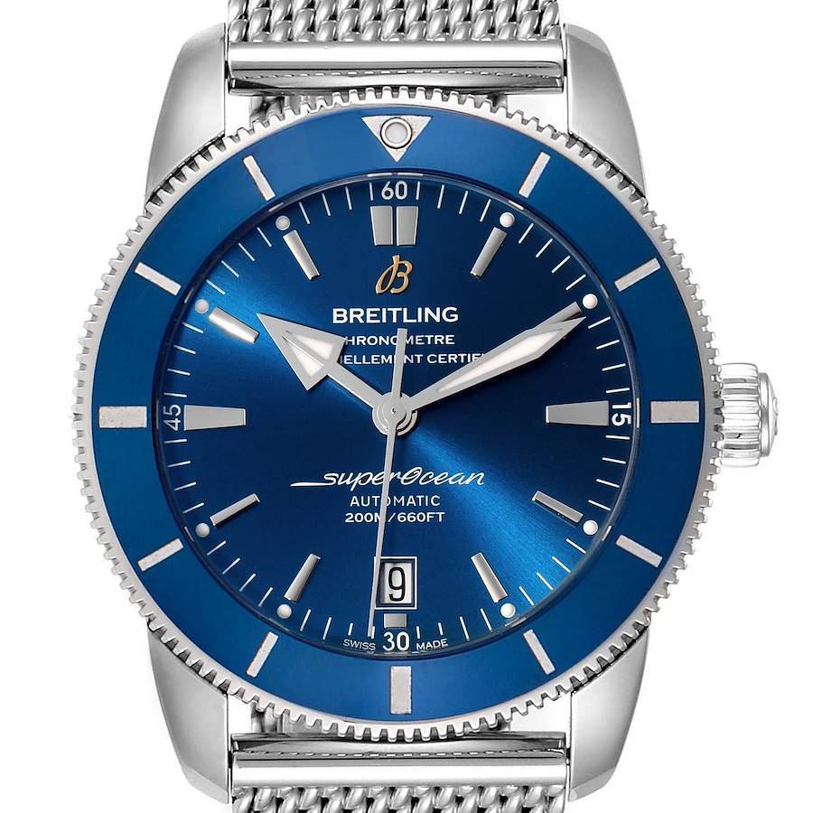 Breitling Superocean Heritage 46 Blue Dial Mens Watch AB2020 Box Card SwissWatchExpo