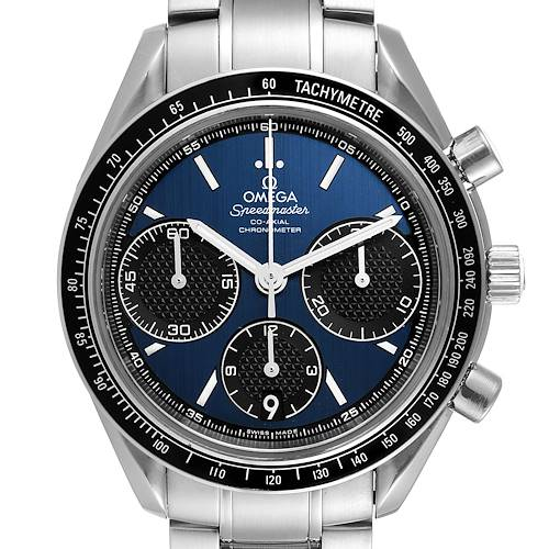 Photo of Omega Speedmaster Racing Blue Dial Steel Watch 326.30.40.50.01.001 Card
