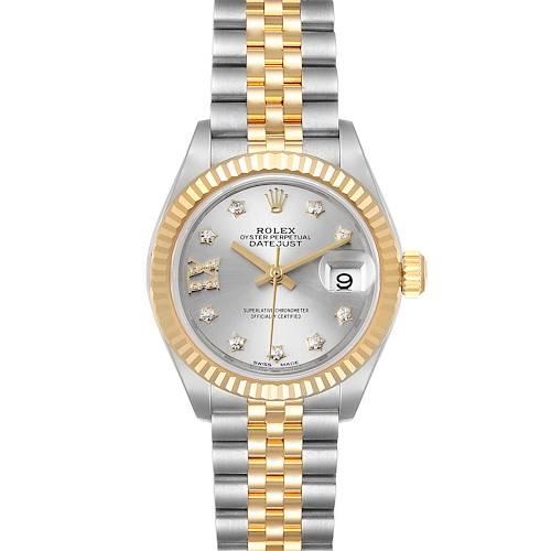 Photo of Rolex Datejust 28 Steel Yellow Gold Diamond Ladies Watch 279173 Box Card
