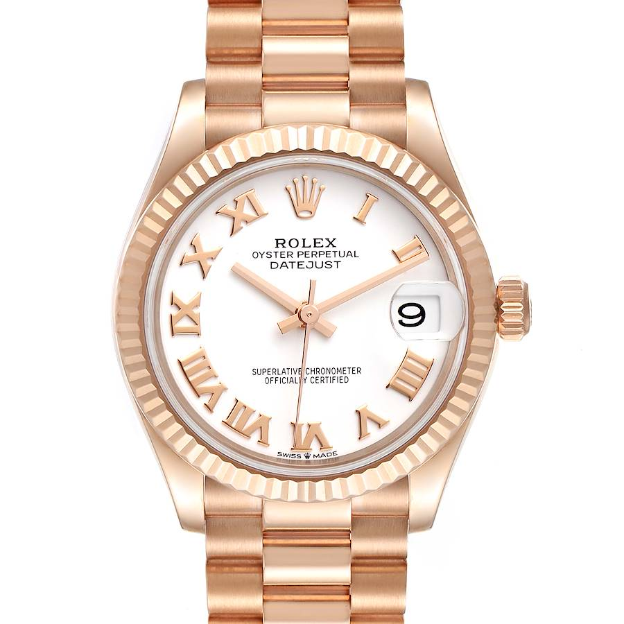 Rolex President Datejust Midsize 31 Rose Gold Ladies Watch 278275 Unworn SwissWatchExpo