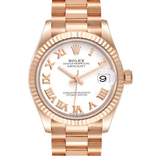 Photo of Rolex President Datejust Midsize 31 Rose Gold Ladies Watch 278275 Unworn