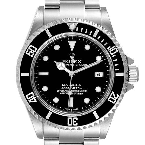 Photo of Rolex Seadweller 4000 Black Dial Steel Mens Watch 16600