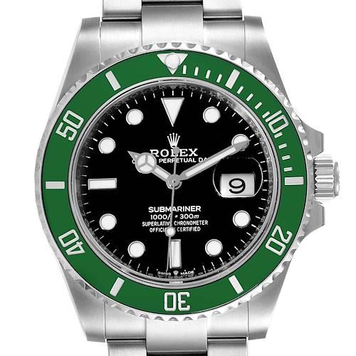Photo of Rolex Submariner Green Kermit Cerachrom Mens Watch 126610LV Unworn