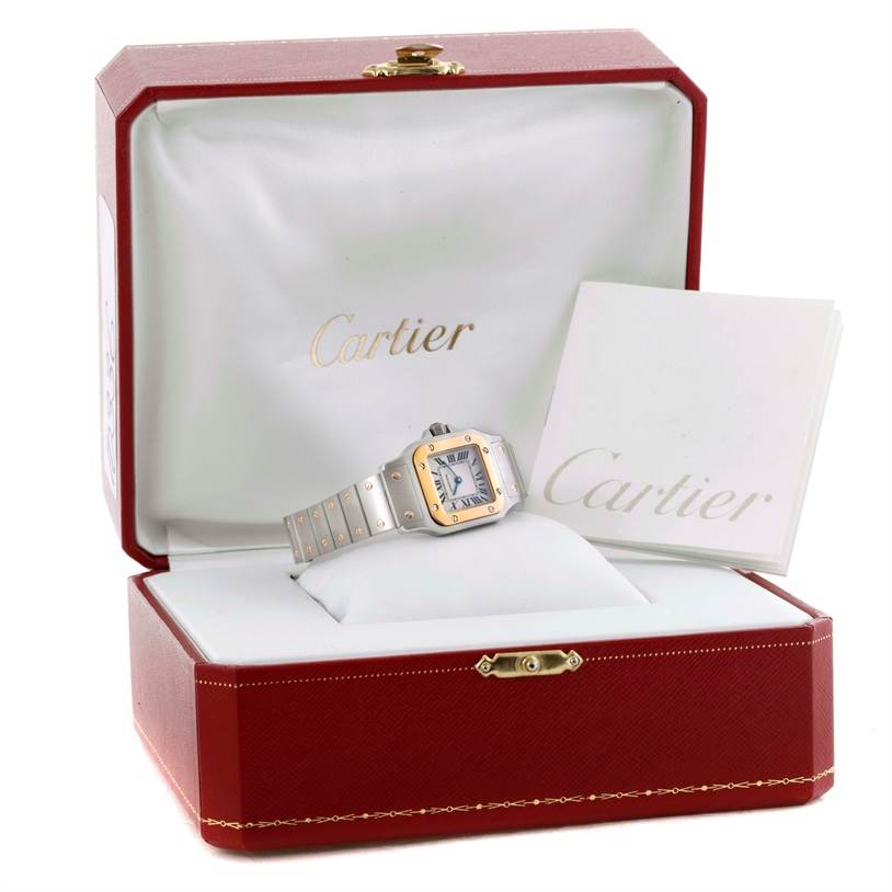 10336 Cartier Santos Galbee Ladies Steel 18K Yellow Gold Watch W20012C4 SwissWatchExpo