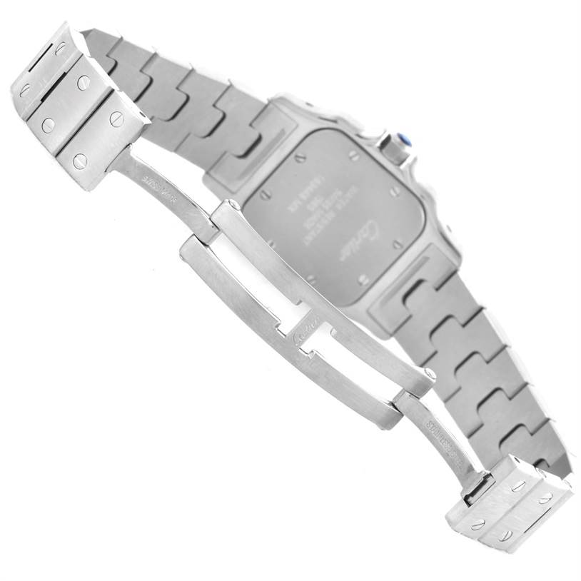 8862 Cartier Santos Galbee Ladies Steel Quartz Watch W20056D6 SwissWatchExpo