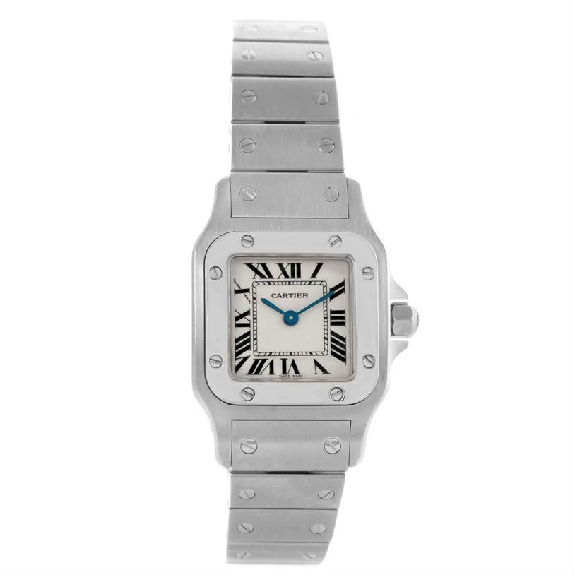 10363 Cartier Santos Galbee Womens Steel Silver Dial Watch W20056D6 SwissWatchExpo