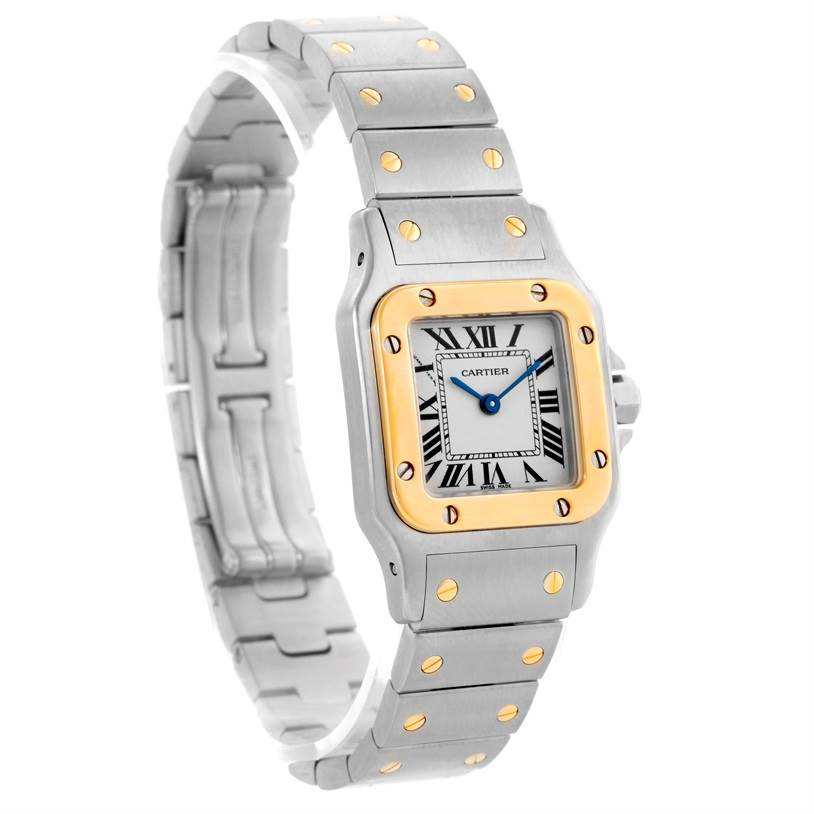 10599 Cartier Santos Galbee Ladies Steel 18K Yellow Gold Watch W20012C4 SwissWatchExpo