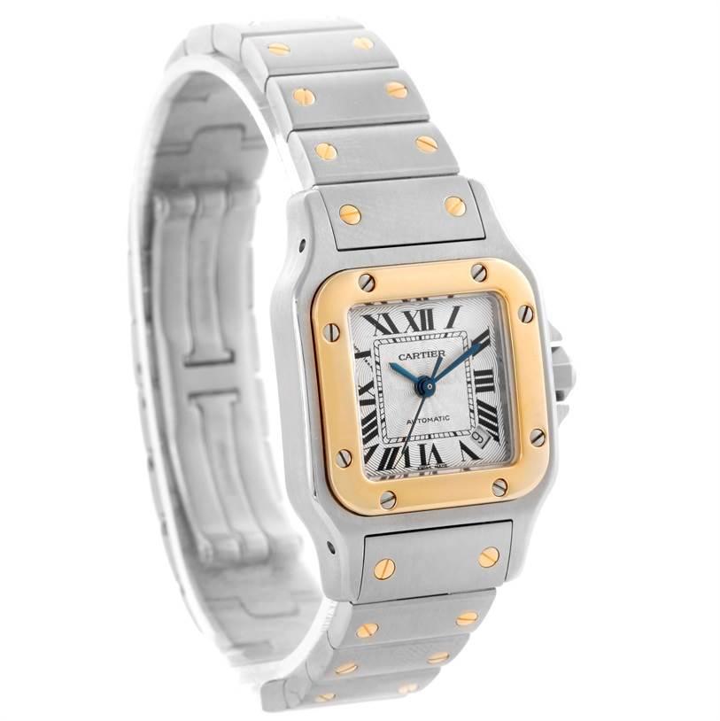 10870 Cartier Santos Small Steel 18K Yellow Gold Date Watch W20057C4 SwissWatchExpo