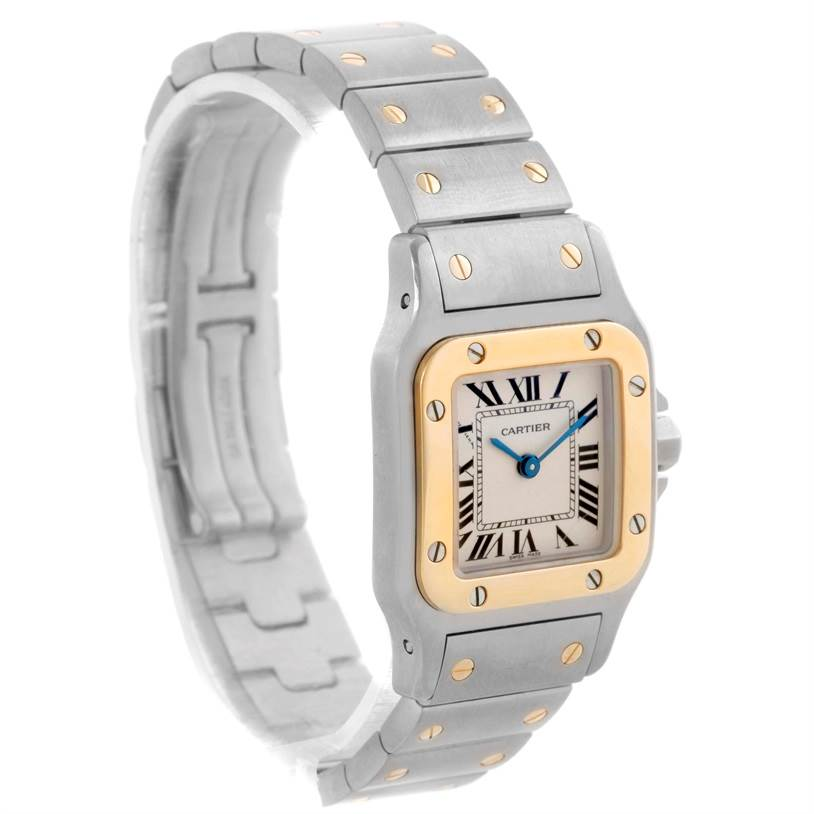 11146 Cartier Santos Galbee Ladies Steel 18K Yellow Gold Watch W20012C4 SwissWatchExpo