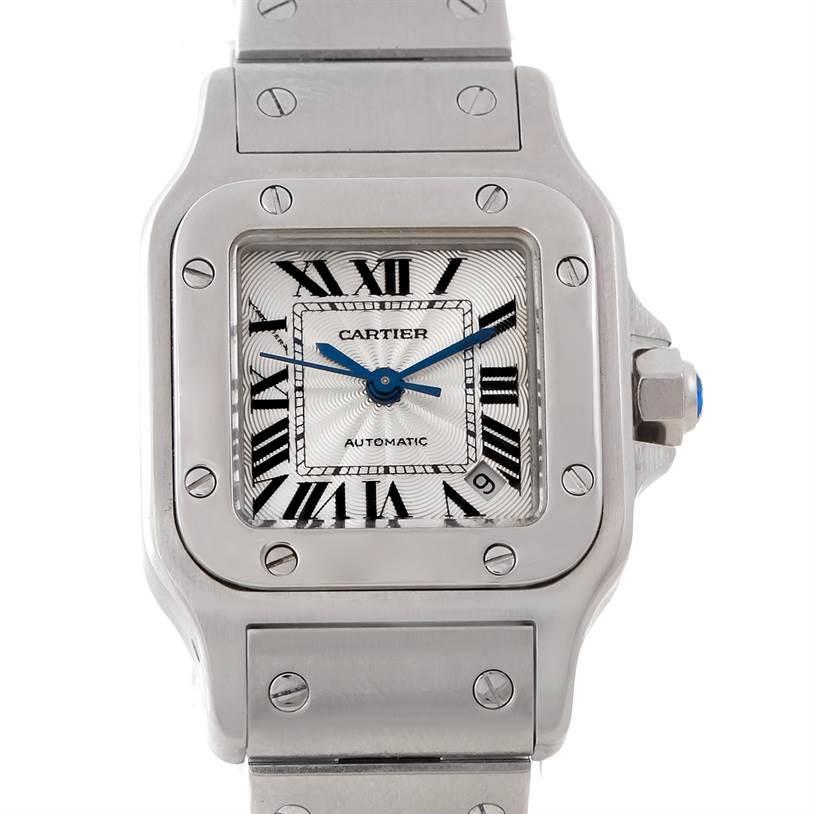 WC549 Cartier Santos Galbee Ladies Steel Automatic Watch W20054D6 SwissWatchExpo