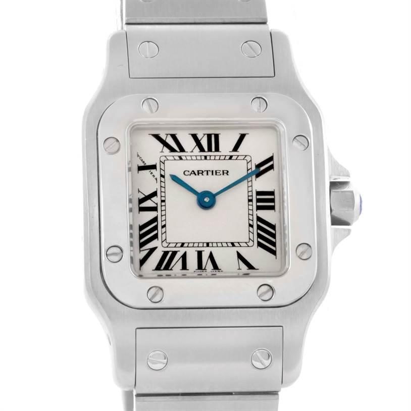 10503 Cartier Santos Galbee Small Steel Silver Dial Quartz Watch W20056D6 SwissWatchExpo