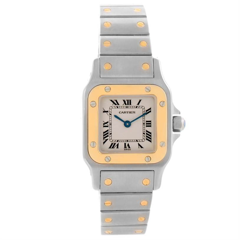 11723 Cartier Santos Galbee Small Steel 18K Yellow Gold Watch W20012C4 SwissWatchExpo